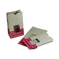 """Ecokraft"" extra strong kraft/brown SOS bag with window  153x110mm H285mm"