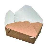 "Boîte repas carton kraft biodégradable ""Nature"" 800ml 140x100mm H50mm"