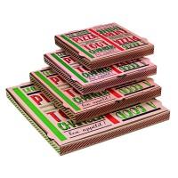 Caja pizza decorada  260x260mm H35mm