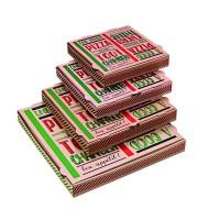 """Boîte à pizza carton brun décor """"Une bonne pizza""""  330x330mm H35mm"""