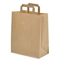 Kraft/brown paper carrier bag  175x90mm H215mm
