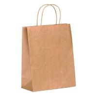 Bolsa de papel Kraft con mango de hilo  220x100mm H290mm