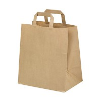 Kraft/brown paper carrier bag  260x140mm H320mm