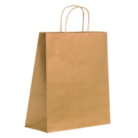 Kraft/brown paper carrier bag with twisted handles  270x130mm H320mm