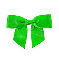 Green satin bow with link 0ml