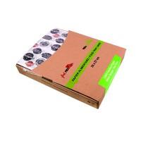 Hoja de papel blanco con impresión burger en caja dispensadora  350x270mm