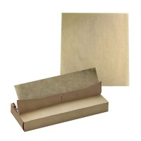Interfolded greaseproof white paper in dispenser box  400x300mm