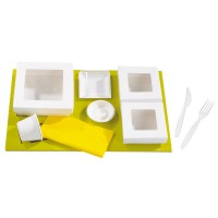 "Green cardboard insert for platter and ""Kray"" boxes  440x270mm H25mm"