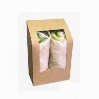Boîte wrap carton brun à fenêtre PLA  95x54mm H152mm