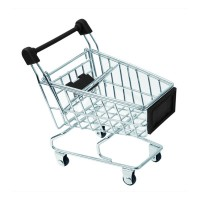 Mini metal shopping cart  110x75mm H125mm