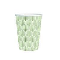 "Vaso de papel decorado ""Leaf"" 250ml Ø80mm  H90mm"