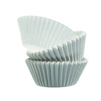 Round white paper baking case  Ø26mm  H18mm