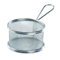 Mini round metal fryer basket  Ø100mm  H80mm