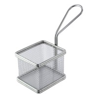 Mini rectangular metal fryer basket  85x70mm H65mm
