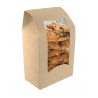 Boîte wrap carton brun à fenêtre  95x54mm H152mm