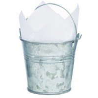 Mini metal bucket 200ml Ø80mm  H75mm