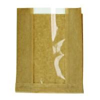 Kraft paper bag with window  280x70mm H180mm