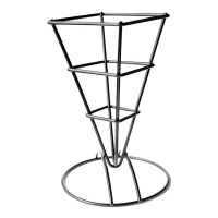 Square black metal cone basket  66x66mm H170mm