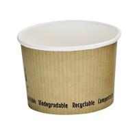 Pot à soupe carton blanc biodégradable 230ml Ø90mm  H62mm