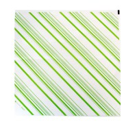 Greaseproof white paper with green stripes  310x320mm
