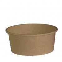 """Buckaty"" round kraft cardboard salad bowl 700ml Ø150mm  H60mm"