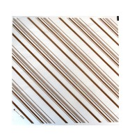 Greaseproof white paper with brown stripes  310x320mm