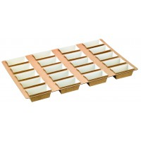 Cardboard tray with 20 rectangular baking molds  3600x5600mm