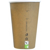 "Gobelet carton PLA ""Nature Cup"" 450ml Ø90mm  H132mm"