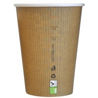 "Gobelet carton PLA ""Nature Cup"" 340ml Ø90mm  H108mm"
