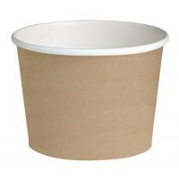 "Brown design cardboard ""Deli"" container 650ml Ø114mm  H99mm"