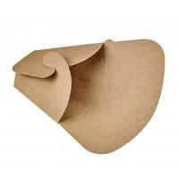 Estuche triangular kraft para crepes  145x65mm H185mm