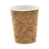 Vaso de papel y corcho 230ml Ø80mm  H92mm