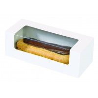 Caja de carton con venlana para pasteles  150x60mm H50mm