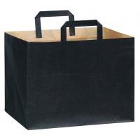 Sac cabas papier kraft brun imprimé noir  320x220mm H240mm