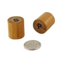 Set bambú: sal y pimienta  18x18mm H40mm