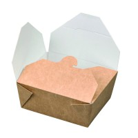 Caja kraft con cierre 550ml 110x90mm H50mm
