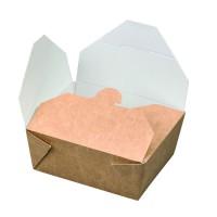 """Nature"" biodegradable kraft meal box 550ml 110x90mm H50mm"
