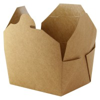 Kraft cardboard meal box laminated 1 000ml 215x160mm H50mm