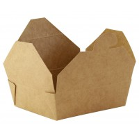 Kraft mini cardboard meal box  115x98mm H35mm