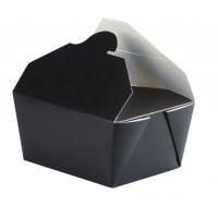 Black cardboard meal box 650ml 130x105mm H65mm