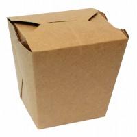 Boîte carton carrée kraft 750ml 102x90mm H103mm