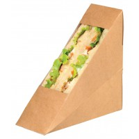 Envase Kraft simple con ventana para bocadillo  50x123mm H123mm