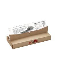 Papier alimentaire blanc ingraissable impression journal en boite distributrice  350x270mm