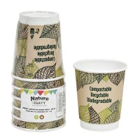 Double walled PLA cardboard cup 230ml Ø80mm  H90mm