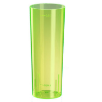 Neon yellow PS hi-ball glass 300ml Ø59mm  H152mm