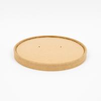 Kraft/brown cardboard lid for hot and cold foods  Ø185mm  H16mm
