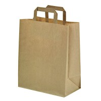 Kraft/brown paper carrier bag  260x140mm H320mm