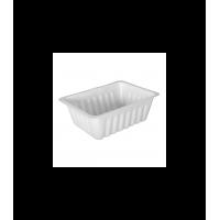 Tranlucent rectangular PS plastic tray 125ml 80x60mm H40mm