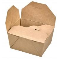 Kraft cardboard meal box laminated 730ml 130x105mm H65mm
