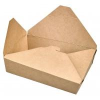 Kraft cardboard meal box PE laminated 0ml   H50mm